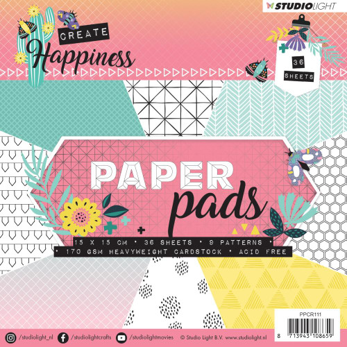 Studio Light 6x6 Paper Pad: Create Happiness #1