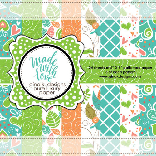 Gina K. Designs 6x6 Paper Pad: Made with Love