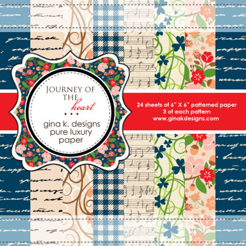 Gina K. Designs 6x6 Paper Pad: Journey of the Heart