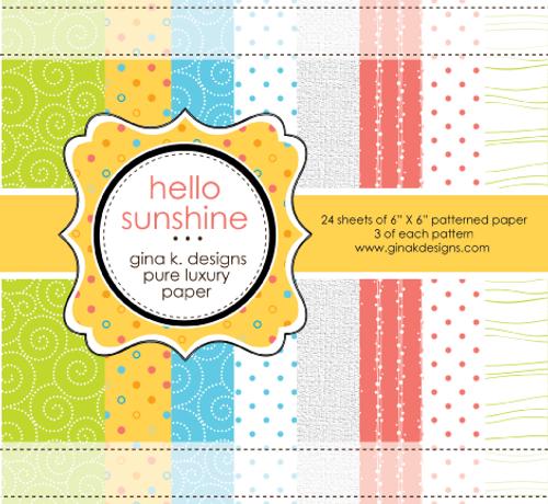 Gina K. Designs 6x6 Paper Pad: Hello Sunshine