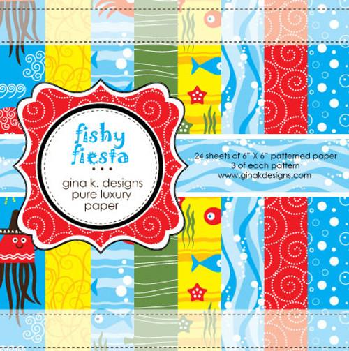 Gina K. Designs 6x6 Paper Pad: Fishy Fiesta