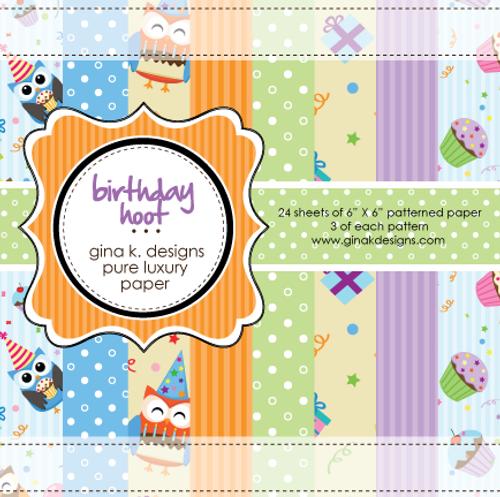 Gina K. Designs 6x6 Paper Pad: Birthday Hoot