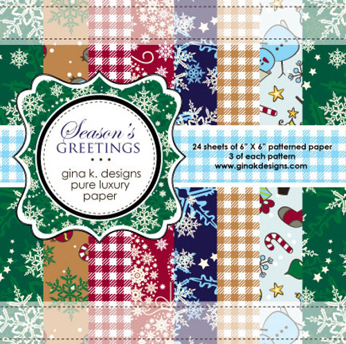 Gina K. Designs 6x6 Paper Pad: Season's Greetings