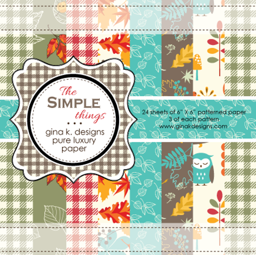 Gina K. Designs 6x6 Paper Pad: The Simple Things