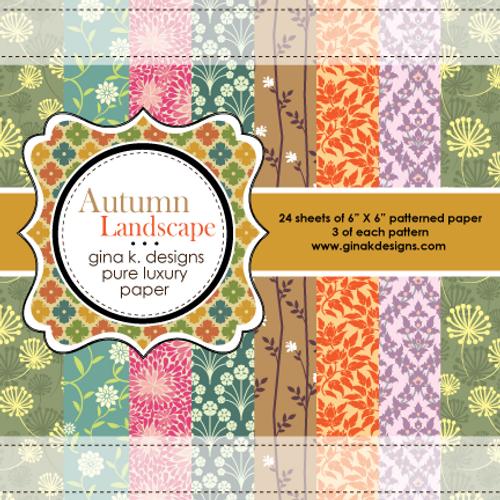 Gina K. Designs 6x6 Paper Pad: Autumn Landscape