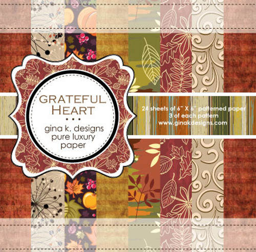 Gina K. Designs 6x6 Paper Pad: Grateful Heart