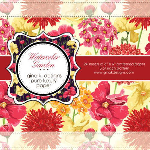 Gina K. Designs 6x6 Paper Pad: Watercolor Garden