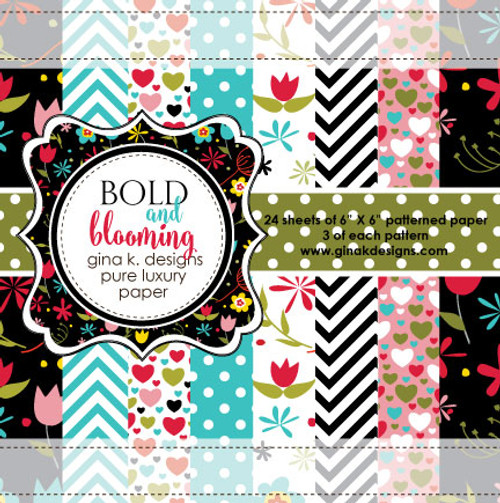 Gina K. Designs 6x6 Paper Pad: Bold & Blooming