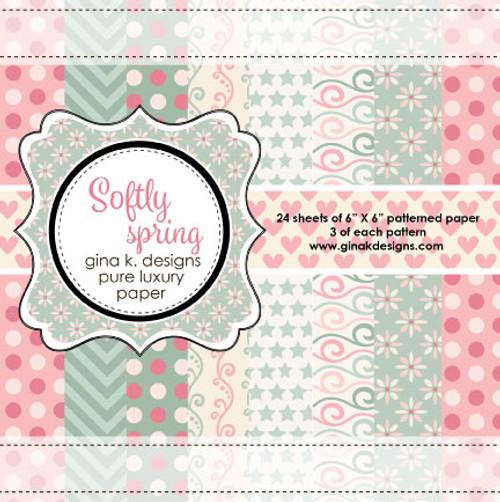 Gina K. Designs 6x6 Paper Pad: Softly Spring