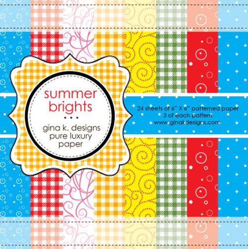 Gina K. Designs 6x6 Paper Pad: Summer Brights