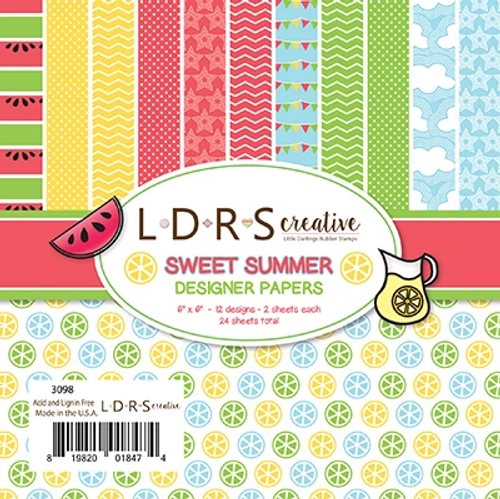 LDRS Creative 6x6 Paper Pad: Sweet Summer