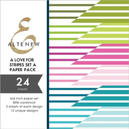 "Altenew 6x6 Paper Pad: A Love for Stripes Set ""A"""