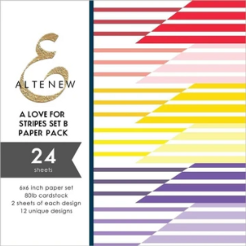 "Altenew 6x6 Paper Pad: A Love for Stripes Set ""B"""