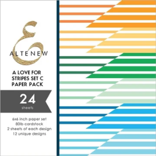 "Altenew 6x6 Paper Pad: A Love for Stripes Set ""C"""