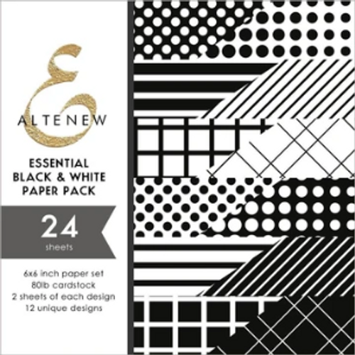Altenew 6x6 Paper Pad: Essential Black & White