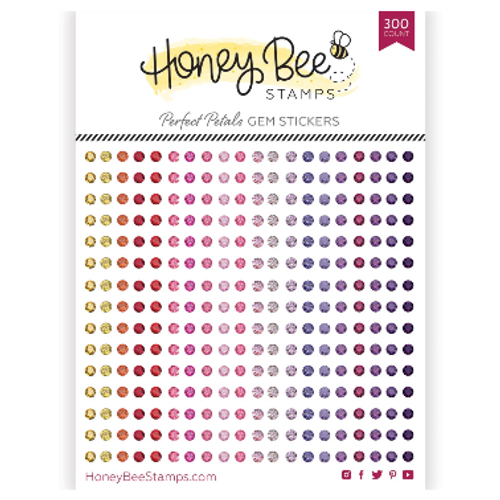 Honey Bee Stamps Crystal Gem Stickers: Perfect Petals