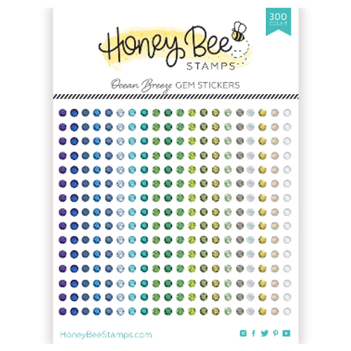Honey Bee Stamps Crystal Gem Stickers: Ocean Breeze