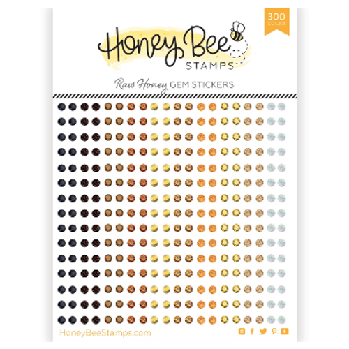Honey Bee Stamps Crystal Gem Stickers: Raw Honey