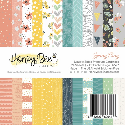Honey Bee Stamps 6x6 Paper Pad: Spring Fling