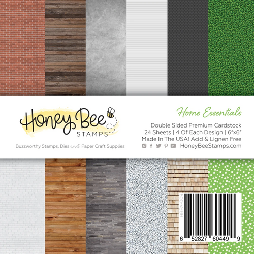 Honey Bee Stamps 6x6 Paper Pad: Home Essentials