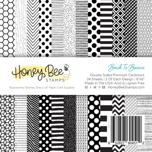 Honey Bee Stamps 6x6 Paper Pad: Back to Basics