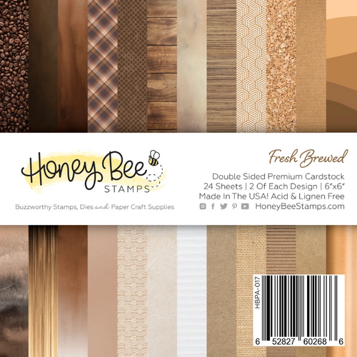 Honey Bee Stamps 6x6 Paper Pad: Fresh Brewed