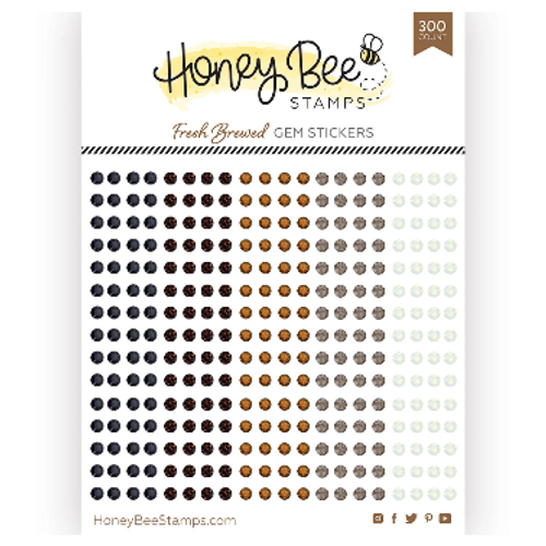 Honey Bee Stamps Crystal Gem Stickers: Fresh Brewed