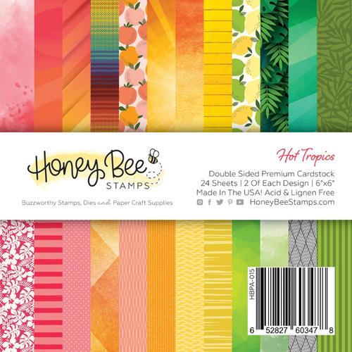 Honey Bee Stamps 6x6 Paper Pad: Hot Tropics
