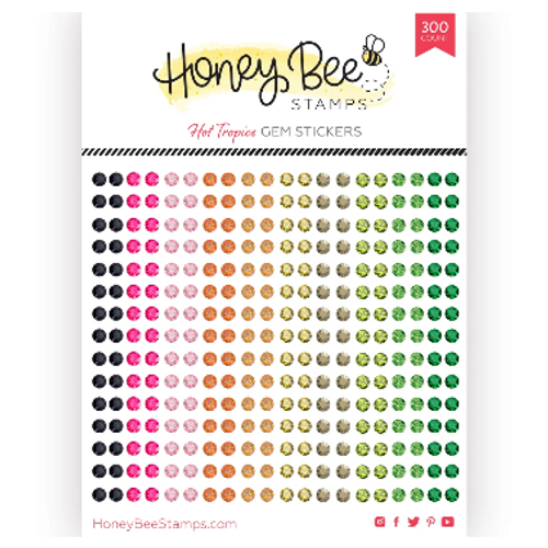 Honey Bee Stamps Crystal Gem Stickers: Hot Tropics