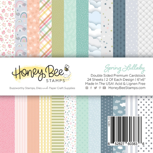 Honey Bee Stamps 6x6 Paper Pad: Spring Lullaby