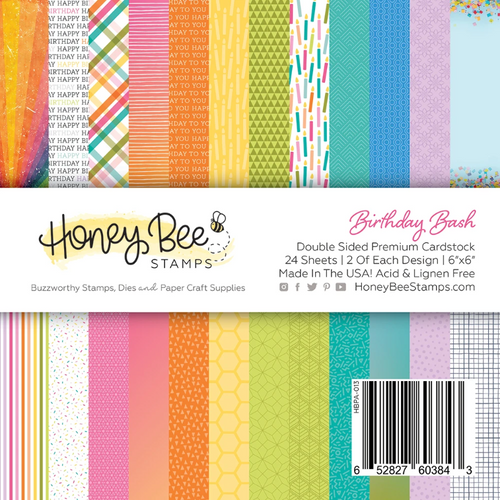 Honey Bee Stamps 6x6 Paper Pad: Birthday Bash