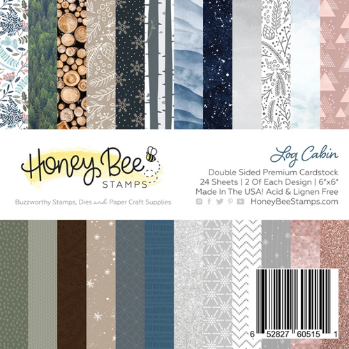 Honey Bee Stamps 6x6 Paper Pad: Log Cabin