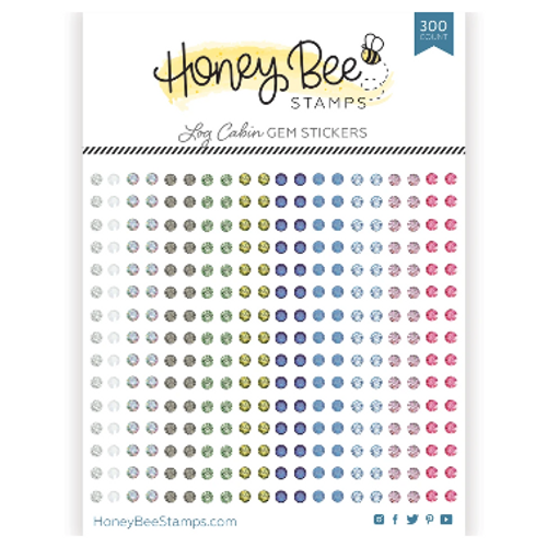 Honey Bee Stamps Crystal Gem Stickers: Log Cabin