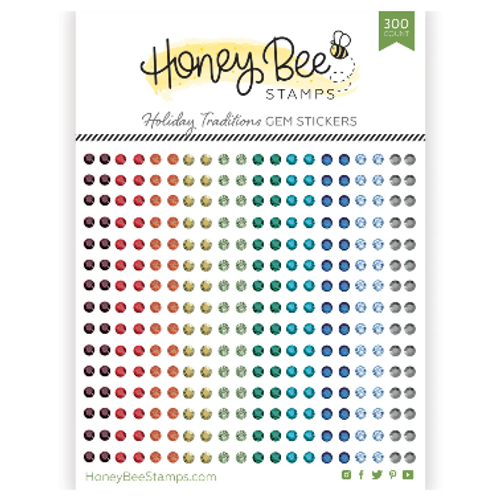 Honey Bee Stamps Crystal Gem Stickers: Holiday Traditions