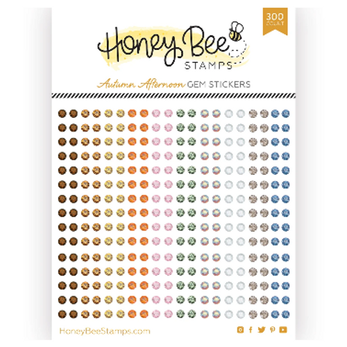 Honey Bee Stamps Crystal Gem Stickers: Autumn Afternoon