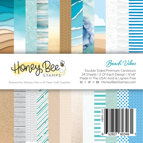 Honey Bee Stamps 6x6 Paper Pad: Beach Vibes