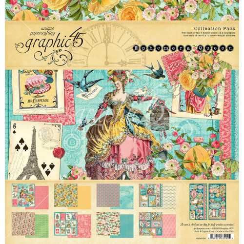 Graphic 45 Ephemera Queen 12x12 Collection Pack