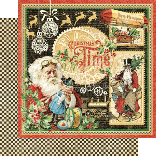 Graphic 45 Christmas Time 12x12 Paper: Christmas Time