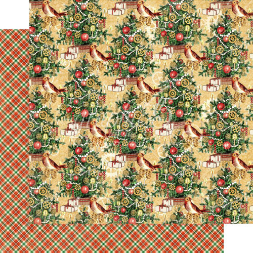 Graphic 45 Christmas Time 12x12 Paper: Trim the Tree