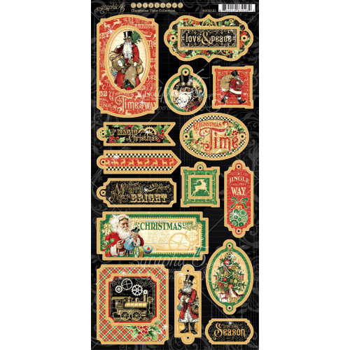 Graphic 45 Christmas Time 6x12 Chipboard
