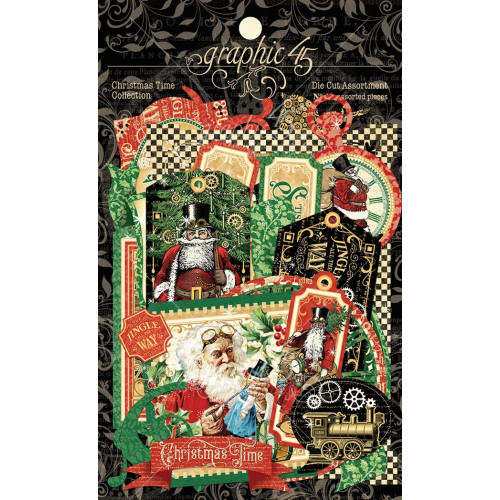 Graphic 45 Christmas Time Diecut Assortment
