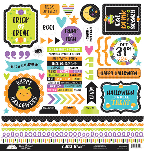 Doodlebug Ghost Town Stickers: This & That