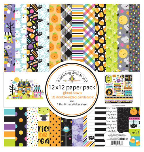 Doodlebug Ghost Town 12x12 Paper Pack