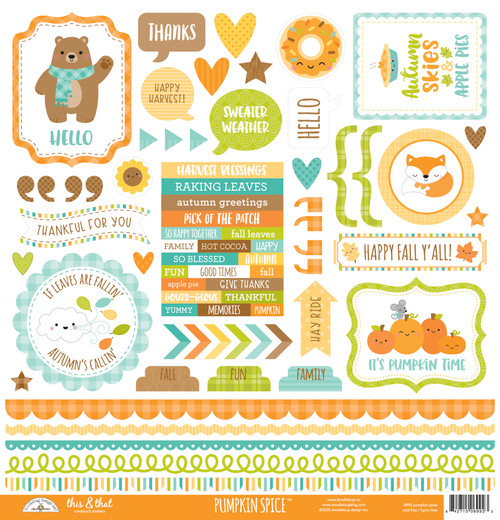 Doodlebug Pumpkin Spice Stickers: This & That