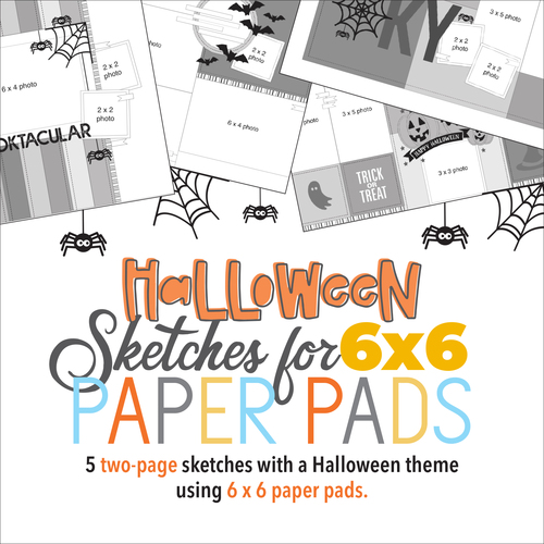 "* DIGITAL DOWNLOAD * Allison Davis for SG | Halloween Sketches for 6x6"" Paper Pads: Two-Page Sketches"
