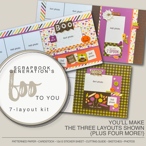 SG: Boo To You - 7 Layout Kit