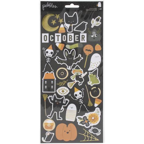 Pebbles Spoooky 6x12 Sticker Sheet
