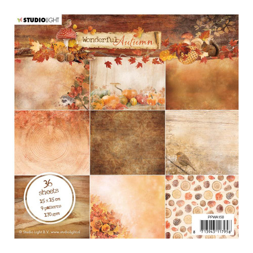 Studio Light Wonderful Autumn 6x6 Paper Pad #150