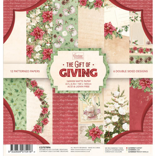 Couture Creations 6.5x6.5 Paper Pad: The Gift of Giving