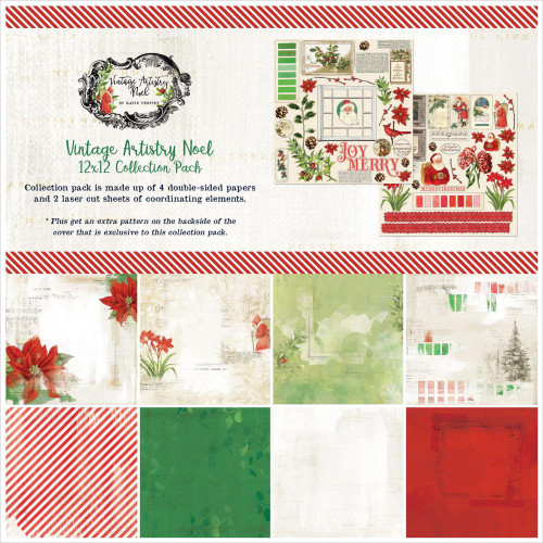 49 and Market Vintage Artistry 12x12 Collection Pack: Noel